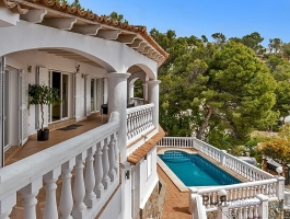 A villa to dream. Sea view PUR. Puerto Portals on the doorstep. In 10 minutes in Palma.