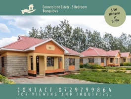 3 Bedroom Bungalows Off Thika Road in a Gated Community