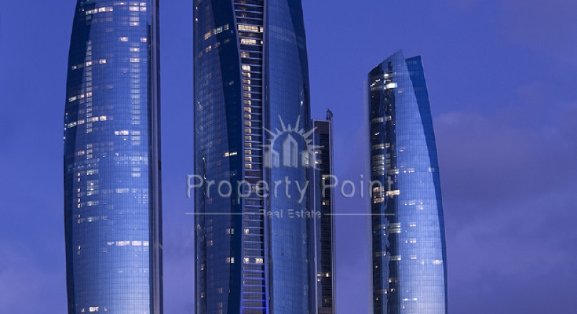 For lovers of fashion 3Bed Rooms+M In Etihad Towers,Sea View With Full Facilities