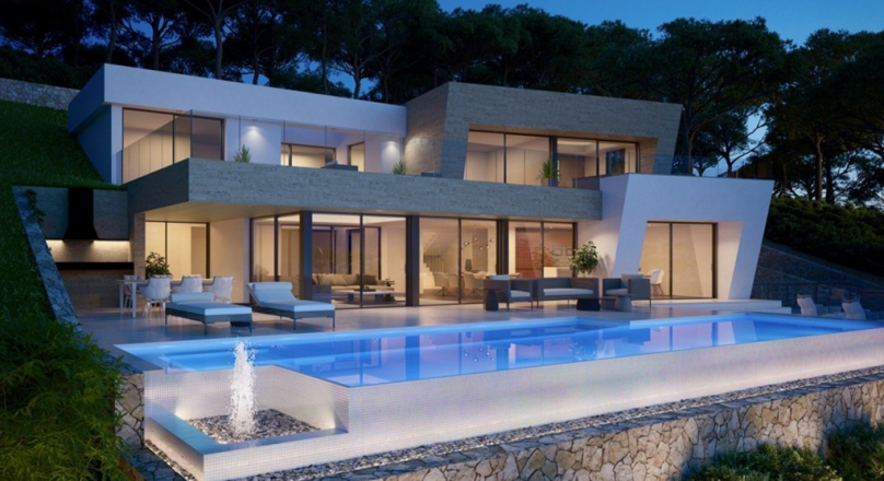 Modern new build villa for sale in Jávea with sea views Atalayas
