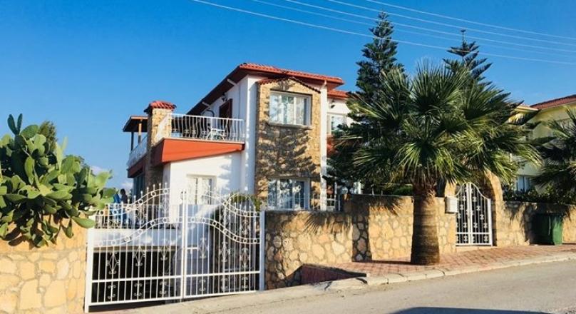 3 + 1 Detached House in Girne, Karaoğlanoğlu District, No Frontage.
