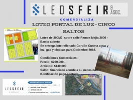 LAND 300M2 - LOTEO PORTAL DE LUZ- FIVE JUMPS