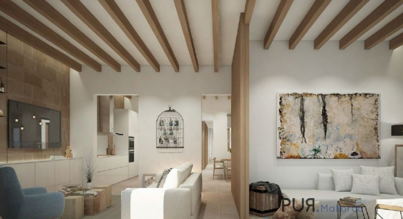 In the middle of Santa Catalina. Ensemble - new building. Shortly before completion. High quality apartment.