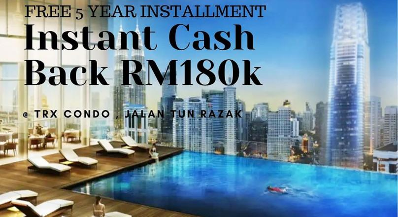 Only 3000 You Can Own A TRX Freehold Condo With Instant Cash Back 160,000