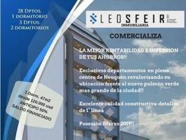 DEPARTMENTS 1 AND 2 DORM. - CENTRO DE NEUQUEN-POSESIÓN MARCH 2019-OWN FINANCING!