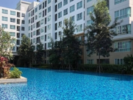 A 60Sq M. Tow bedrooms apartment on 8th floor at D Nim Condo with swimming pool view.