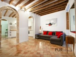 Palma. Old town. In the middle. Apartment with roof terrace and sea view.