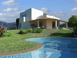 Management parcelling plan, to build 122 villas, every with swimming pool, exclusive and particular,