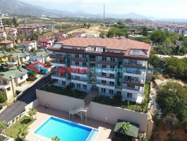 2+1 Sea View New Apartment in Kestel for Sale with Reasonable Price ( Alanya-Turkey )