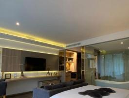 Luxury condominium with four swimming pools, lounge, bar area
