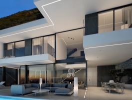 Modern new build villa for sale in Benidorm Sierra Cortina with sea views