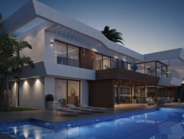 Modern new build villa for sale in Moraira with sea views Benimeit