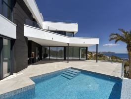 Modern new build villa for sale in Calpe with sea views Les Bassetes